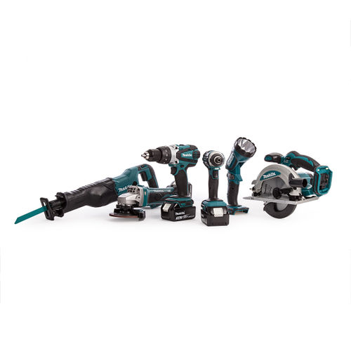 Makita DLX6072PT 18V 6 Piece Cordless Kit (3 x 5.0Ah Batteries) - Replaced DLX6044PT