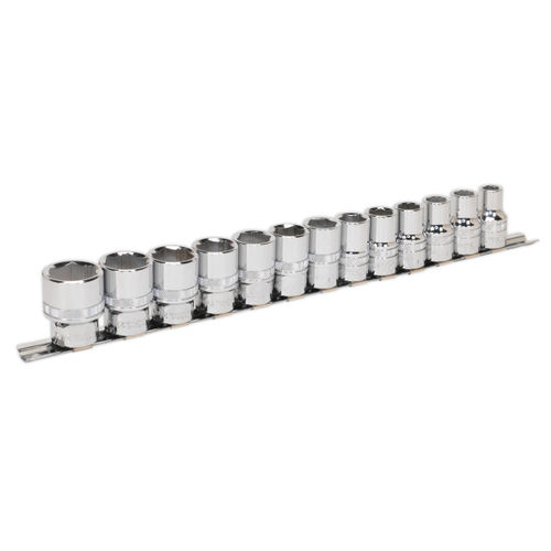 Sealey AK2742 Metric Socket Set 1/2in Square Drive Lock-On 6pt (13 Piece)