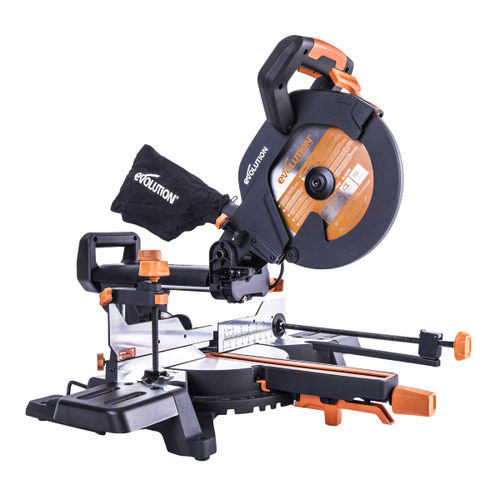Evolution R255SMS+ TCT Multi-Material Sliding Mitre Saw 255mm / 10 Inch 110V