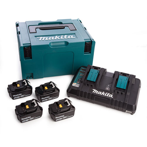 Makita DC18RD Twin Charger + 4 x 4.0Ah Batteries in Kitbox
