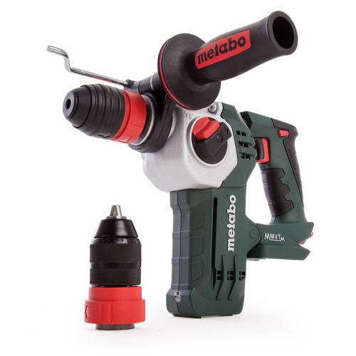 Metabo KHA 18 LTX BL 24 Quick SDS+ Cordless Brushless Hammer Drill (Body Only) in MetaLoc Case