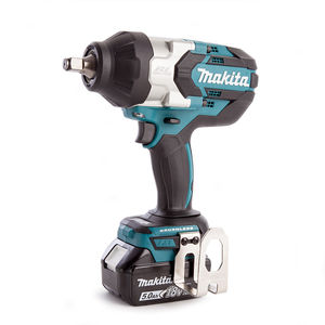 Makita DTW1002RTJ Impact Wrench 18V Brushless LXT Li-ion 1/2 Inch Square Drive (2 x 5.0Ah Batteries)
