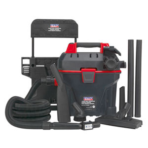 Sealey GV180WM Garage Vacuum 1500w With Remote Control - Wall Mounting 240V