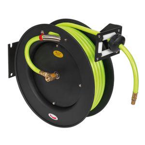 Sealey SA841HV Retractable Air Hose Metal Reel 15mtr ∅10mm Id High Visibility Tpr Hose