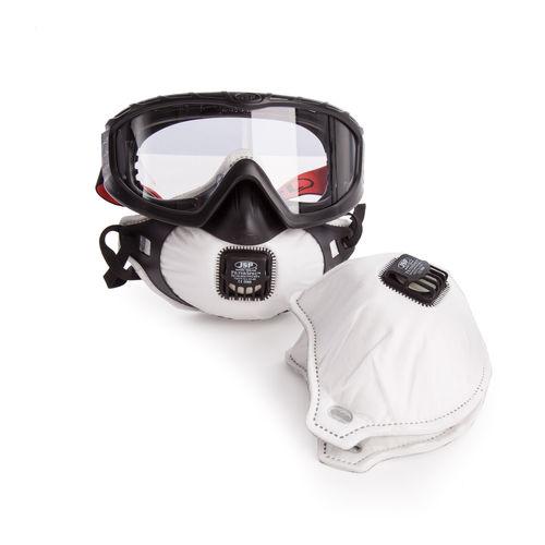 JSP AGE120-201-100 Filterspec Pro-Safety Goggle & Respirator Combination Unit