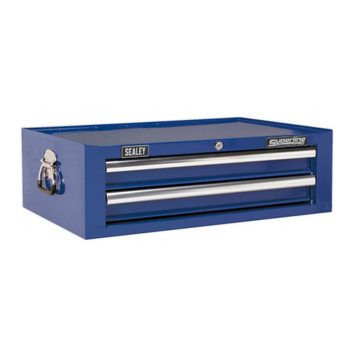 Sealey AP26029TC Mid-box 2 Drawer With Ball Bearing Runners - Blue