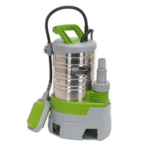 Sealey WPS225P Submersible Stainless Water Pump Automatic Dirty Water 225ltr/min 240v