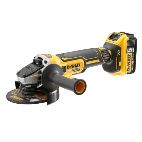 Dewalt DCG405P2 18V Cordless XR Brushless Angle Grinder 125mm (2 x 5.0Ah Batteries)