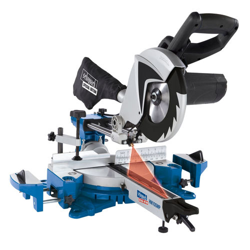 Scheppach HM100MP 255mm 2 Speed Multi-App Sliding Mitre Saw 240V