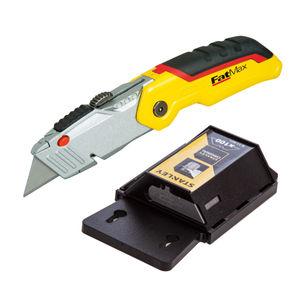 Stanley Fatmax Folding Retractable Knife + 100 Heavy Duty Blades