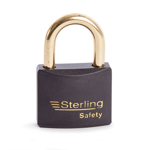 Sterling BL4BK Safety Lockout Padlocks 40mm Double Locking KA1 Black