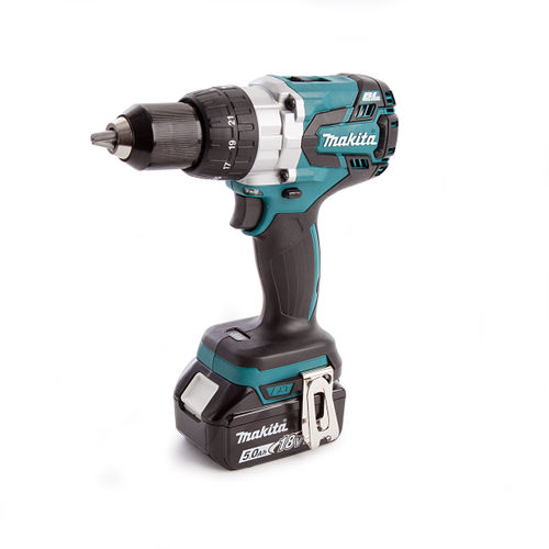 Makita DHP481 Combi Drill With DC18RC Charger and MakPac Case (2 x 5.0Ah Batteries)
