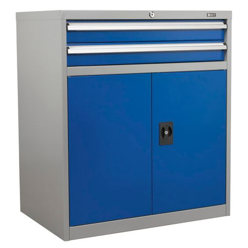 Sealey API8810 Industrial Cabinet 2 Drawer & 1 Shelf Double Locker