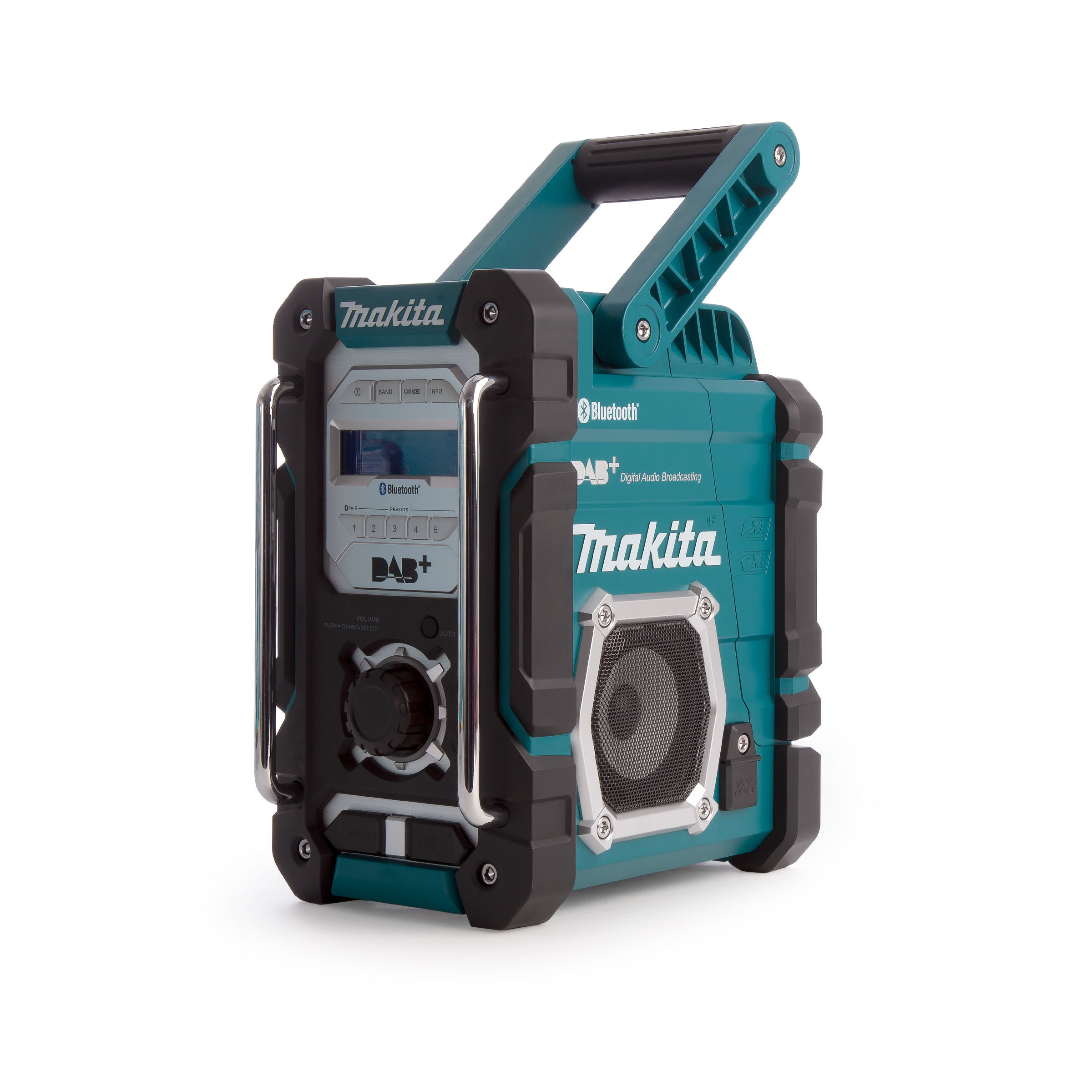 toolstop makita dmr112 7 2v 18v dab dab jobsite radio. Black Bedroom Furniture Sets. Home Design Ideas