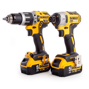 Dewalt DCK266P2T Combi Drill and Impact Driver XR 18V Brushless Kit in TSTAK Box (2 x 5.0Ah Batteries)
