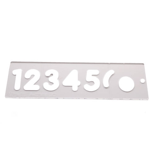 Trend TEMP/NUC/57 Number Template Set 57MM Uppercase