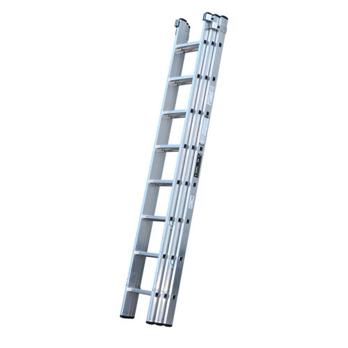 Youngman 570121 Trade 200 3 Section Aluminium Extension Ladder 2.50 - 5.69 Metres