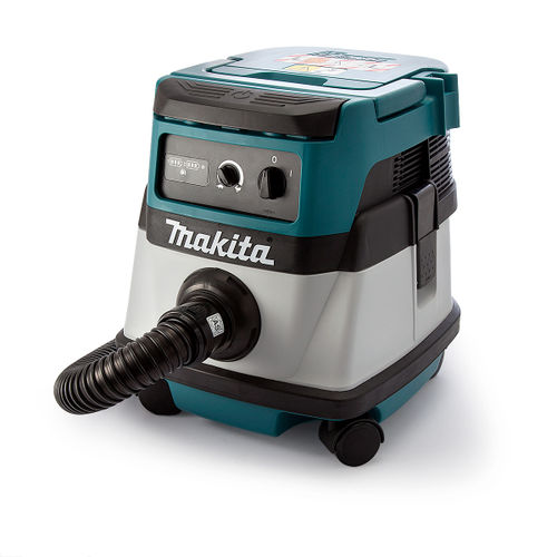 Makita DVC861LZ Dust Extractor Twin 18V Cordless or Corded L Class 110V
