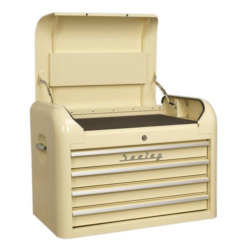 Sealey AP28104 Topchest 4 Drawer Retro Style