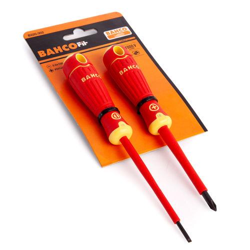 Bahco B220.002 VDE Insulated Screwdriver Set 1000V  2 Piece