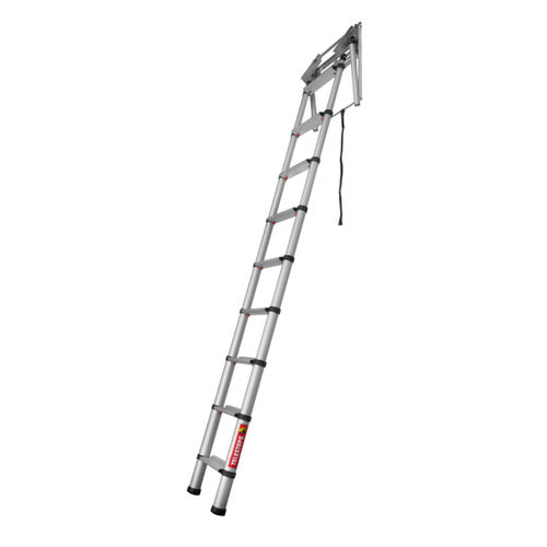 "Telesteps 60324 Loft Line ""Mini"" Telescopic Loft Ladder (2.35 - 2.45m Ceiling Height)"