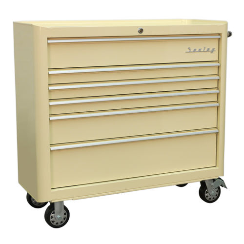 Sealey AP41206 Rollcab 6 Drawer Wide Retro Style (Cream)