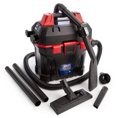 Sealey GV180WM Garage Vacuum 1500w With Remote Control and Wall Mounting 240V