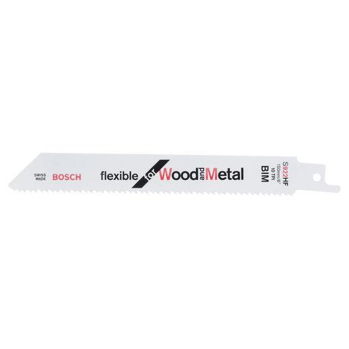 Bosch S922HF (2608656016) Flexible Metal cutting 3 - 12mm Reciprocating Saw Blade 150mm (5 Pack)