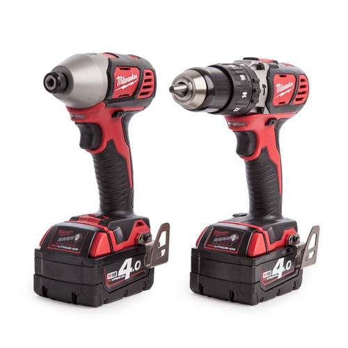 Milwaukee M18 BPP2C-402C Li-ion Combi-Drill and Impact Driver (2 x 4.0Ah Batteries)