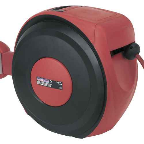 Sealey SA824 Auto Rewind Control Air Hose Reel 30mtr ∅10mm Id - Rubber Hose