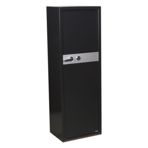Sealey SKGS8 Gun Cabinet With Ammo Box & Key Lock 8 Gun Capacity