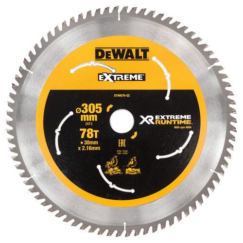 Dewalt DT99576 XR Extreme Runtime Mitre Saw Blade 305mm x 30mm x 78T