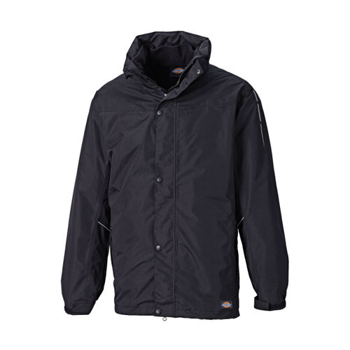 Dickies JW10500 Abbot 3 in 1 Jacket (Black) - SMALL