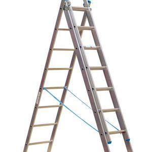 Sealey ACL3 Aluminium Extension Combination Ladder 3x9 En 131