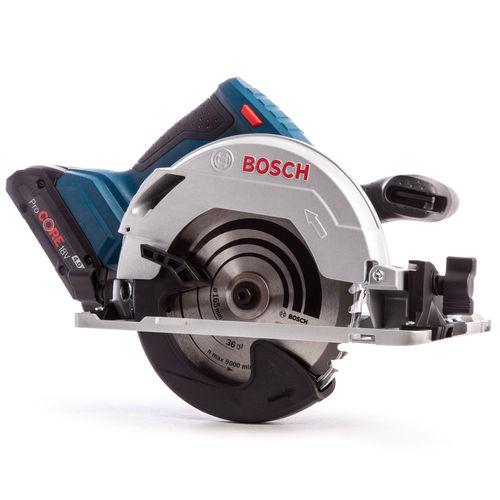 Bosch GKS 18V-57 G Professional Circular Saw (2 x 5.0Ah Coolpack & 1 x 4.0Ah ProCORE Batteries)