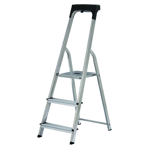 Werner 74103 High Handrail Stepladder With Tool Tray 3 Tread (0.58m)
