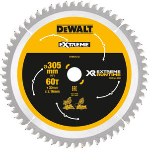 Dewalt DT99575 XR Extreme Runtime Mitre Saw Blade 305mm x 30mm x 60T