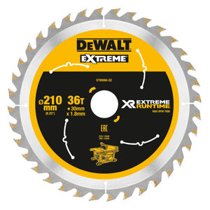 Dewalt DT99566 XR Extreme Runtime Table Saw Blade 210mm x 30mm x 36T