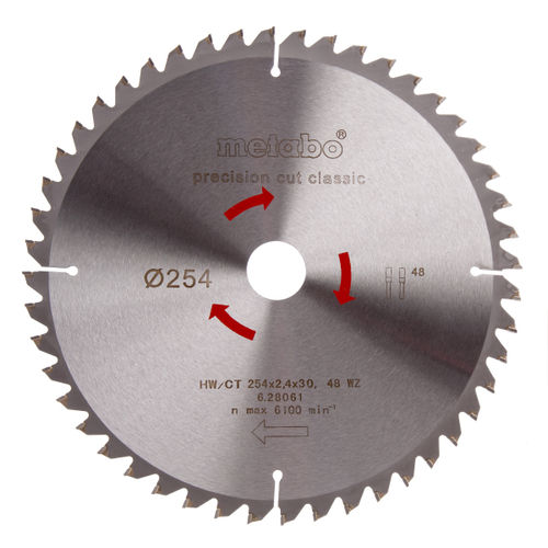 Metabo 6.28061 Circular Saw Blade 254 x 2.4 x 30mm 48 Tooth