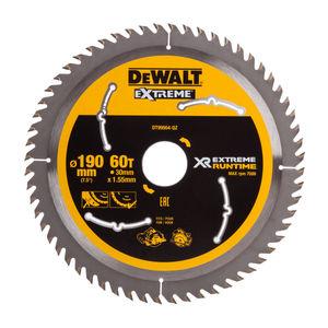 Dewalt DT99564 XR Extreme Runtime Circular Saw Blade 190mm x 30mm x 60T