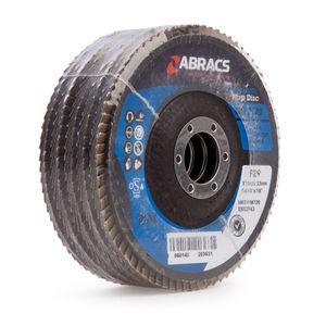 Abracs ABFZ115B0120 Pro Zirconium Flap Disc 120 Grit 115 x 22mm (5 Pack)