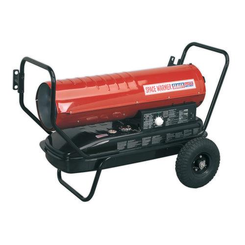 Sealey AB1258 Space Warmer Paraffin, Kerosene & Diesel Heater 125,000btu/hr With Wheels