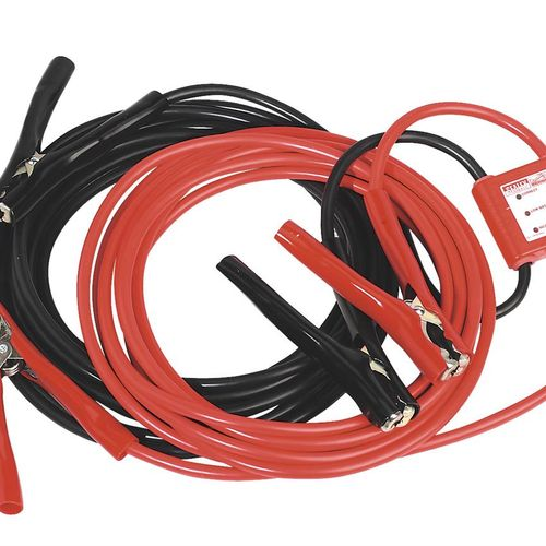Sealey PROJ/12/24 Booster Cables 7mtr 450amp 25mm_ With 12/24v Electronics Protection