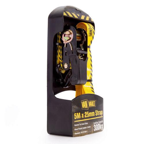 Van Vault S10673 Ratchet Strap 5 Metres x 25mm