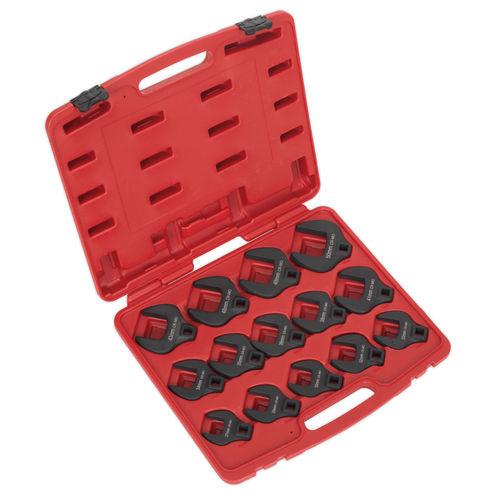 """Sealey AK59831 Crow's Foot Spanner Set 14pc 1/2""""sq Drive Metric"""