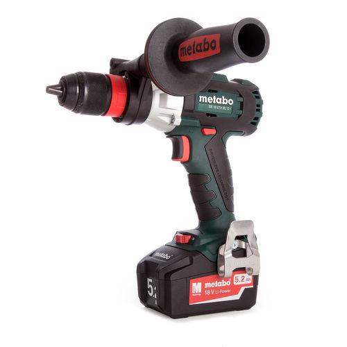 Metabo SB 18 LTX BL Q I 18V Cordless Brushless Combi Drill with Impuls (2 x 5.2Ah Batteries)