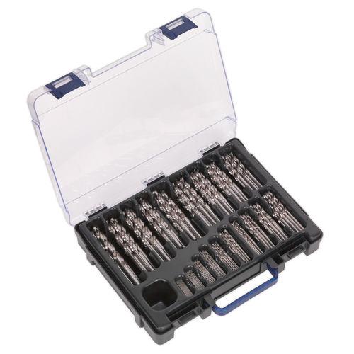 Sealey DBS170FG Hss Fully Ground Drill Bit Assortment 170pc 1-10mm