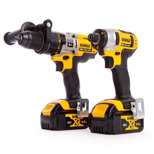 Dewalt DCK290M2T 18V Cordless XR Twinpack - DCD985 Combi Drill + DCF885 Impact Driver (2 x 4.0Ah Batteries)