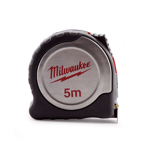 Milwaukee 4932451639 Silver Tape Measure 5m Metric 25mm Blade Width