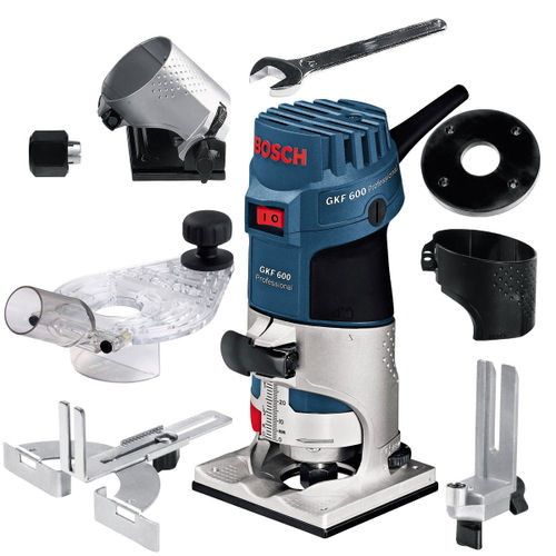 Bosch GKF600 1/4in Palm Router with Accessories